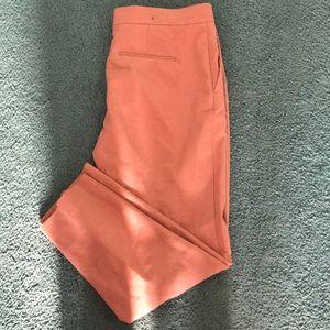 Cream Orange Capri Pants